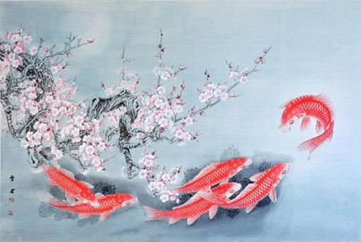 彩画金鱼怎么画步骤